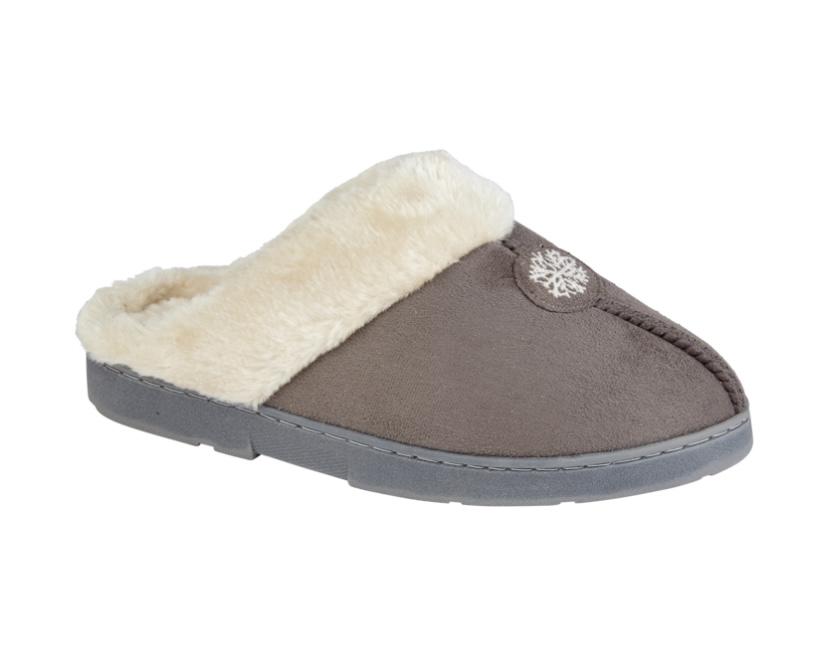 Jo & Joe Snuggle Grey Slippers
