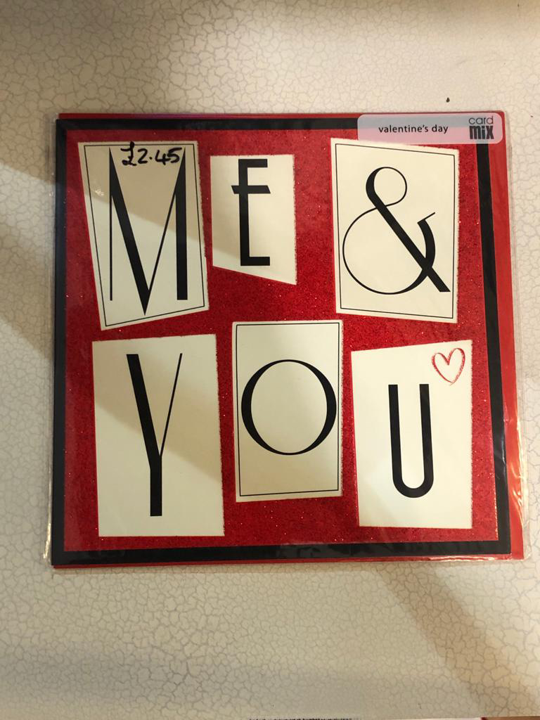 Me & You Valentine's Card