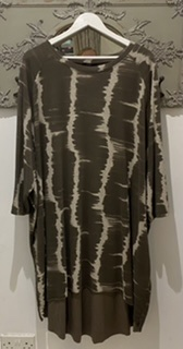 StudioBrown/Cream Tunic Dress