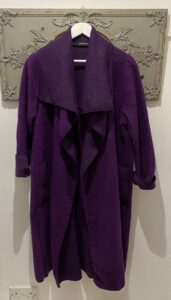 Diverse Purple Waterfall Coat