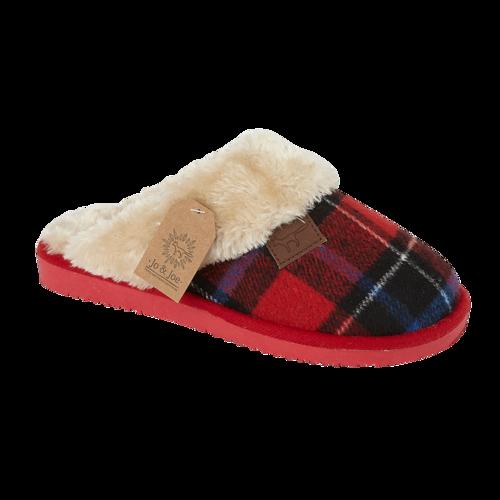 Jo & Joe Shetland Red Slippers