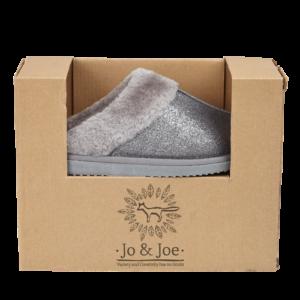 Jo & Joe Sparkle Grey Slippers