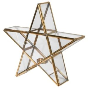 Coach House Brass Star Candle Holder