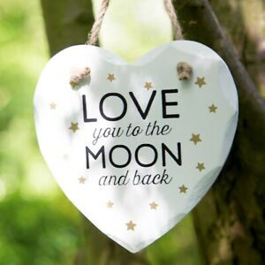 Sass & Belle Wooden Heart Sign
