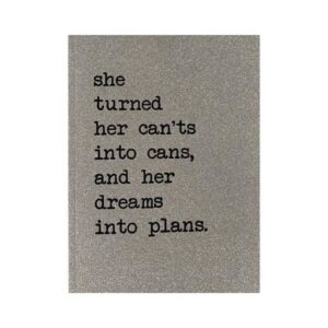 Counting Stars Notebook 'She turned her can'ts into cans......