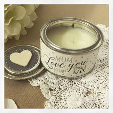 East of India tin candle 'love you to the moon and back'