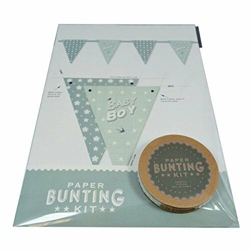 East of India Baby Boy Paper Bunting Kit