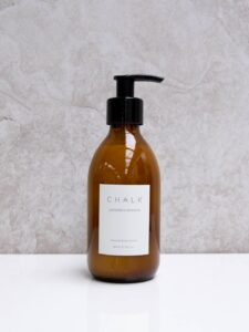 Chalk Amber Glass Lavender & Geranium Hand & Body Lotion