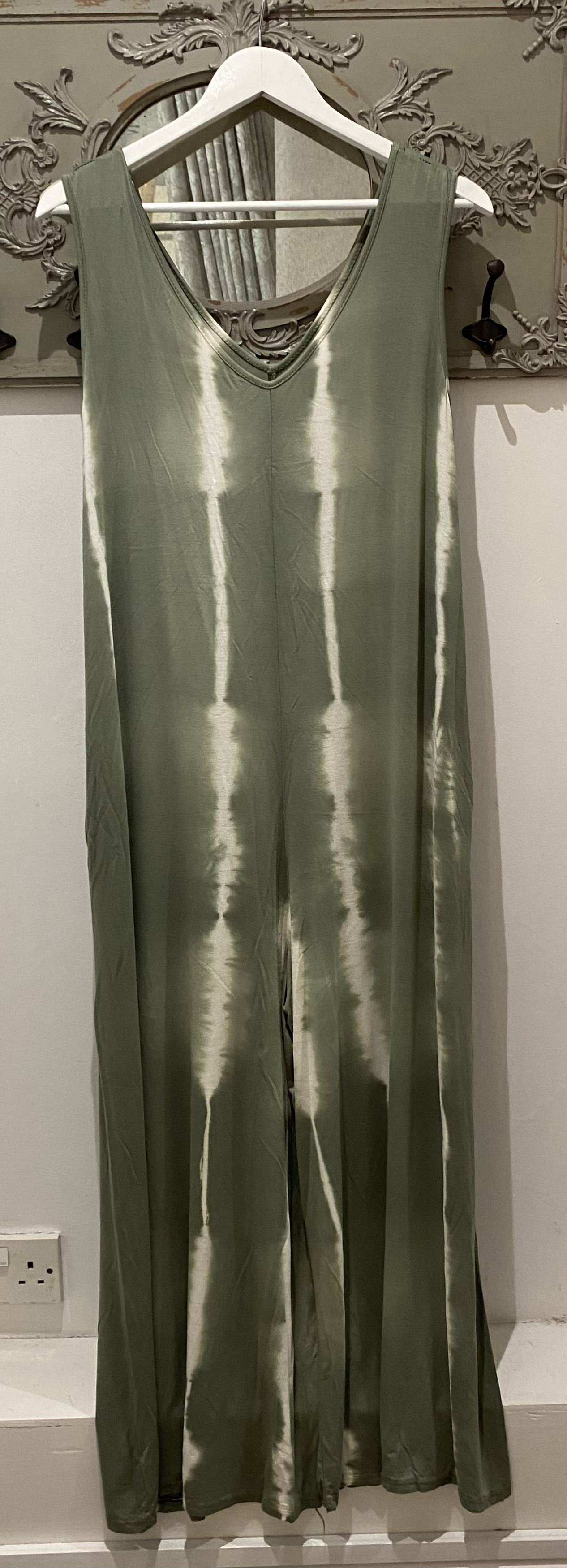 Green tie dye jumpsuit