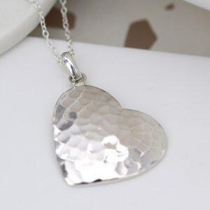 POM Sterling Silver Heart Necklace