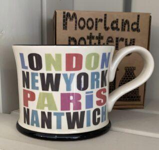 Moorland Pottery London, New York, Paris, Nantwich