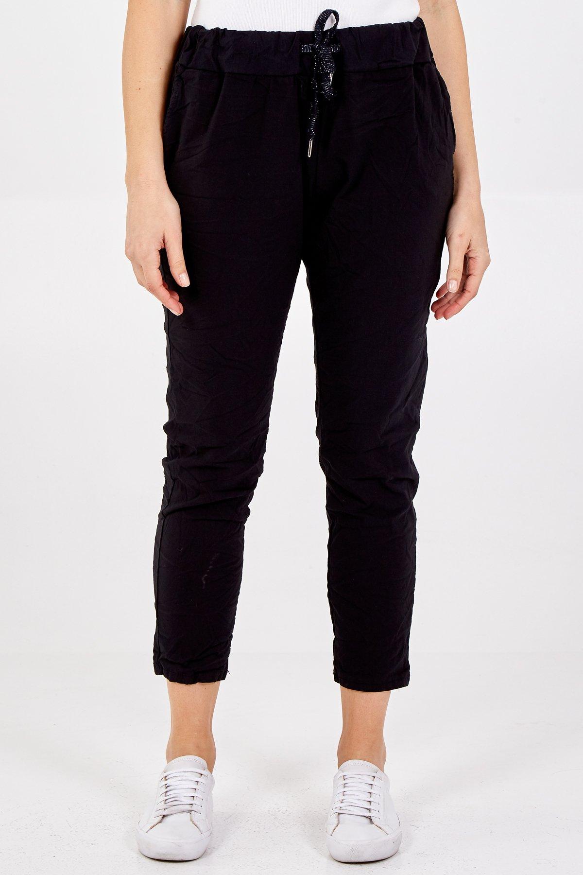Black Magic Super Soft Super Stretch Glitter Draw String Trousers
