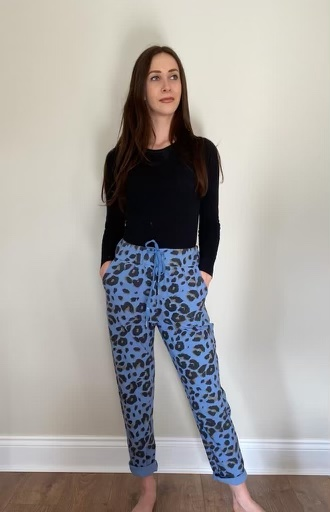 Sugarbabe Blue Leopard Print Trouser