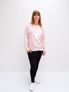 Chalk Tasha Pink White Star