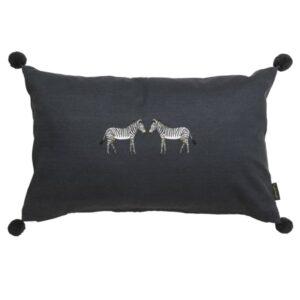 Zebra Embroidered cushion