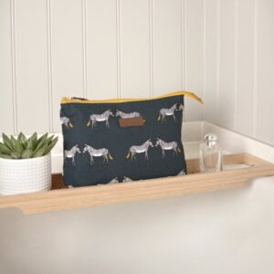 Zebra Canvas wash bag