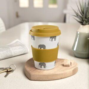 Elephant Bamboo Travel Mug