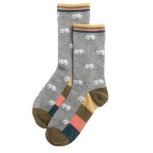 Elephant Ladies Socks