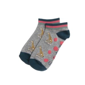 Giraffe Ladies Trainer Socks