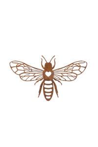 Rusty Bee Plaque