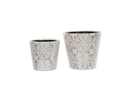 Floral Pot Grey Small/Large