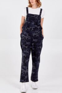 Magic camouflage dungarees - Navy