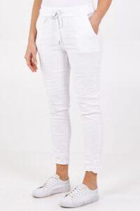 Magic Plain Stretch Trousers - White