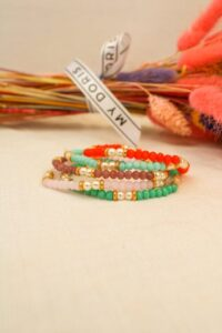 Pearl & Bead Bracelet Rose / Turquoise