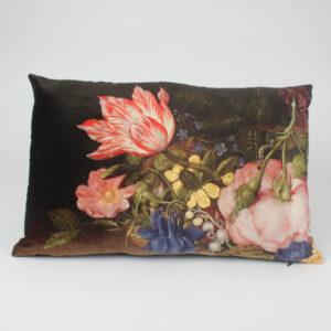Luxurious Floral Single Tassel Cushion