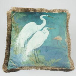 Luxurious Dual sided Stork Cushion