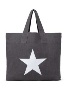 Chalk Shopper Charcoal with Giant Star