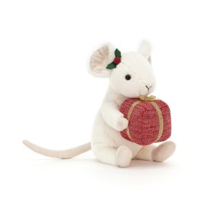 Jellycat Merry Mouse with Present